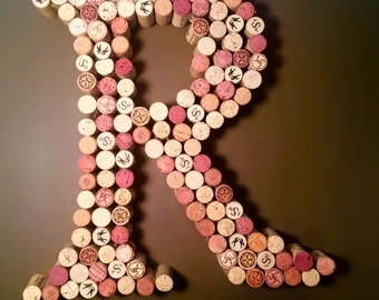 wine cork letter all letters