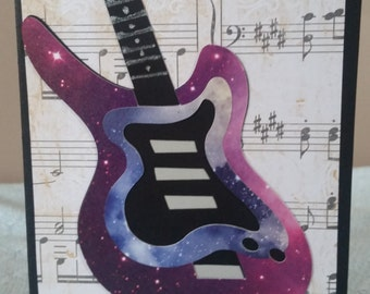 Birthday card Guitar