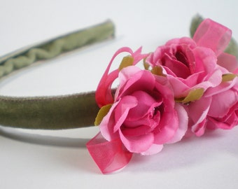 Romantic roses headband