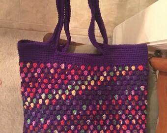 Moroccan Tote- Purple, multicolored
