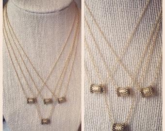 Dainty Monkey Barrel Necklace