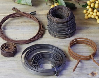 Metal Wire, Starter Spring, Metal Wire Springs, Metal Altered Art Supplies, Metal Craft Supplies, Spool of Wire, Metal Pieces for Art #7-11