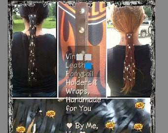 Leather hair tubes and accessories