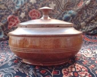 Pot, treen tobacco jar, lidded pot,