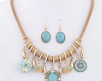 Blue Bohemian Turquoise set