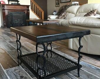 horse shoe coffee table