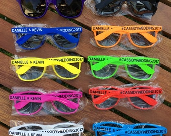 5 KIDS Personalized Sunglasses, Custom Wedding Favor Sunglasses, Birthday Party Favor, Children's Birthday Party, Fun Party Favor Ideas