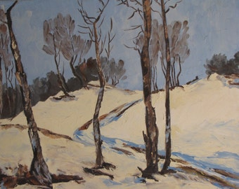 Original Winterscape Painting