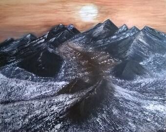 Original Painting Trail On Mars