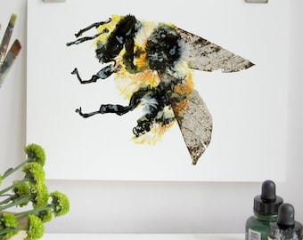 Shrill Carder Bumble Bee Print