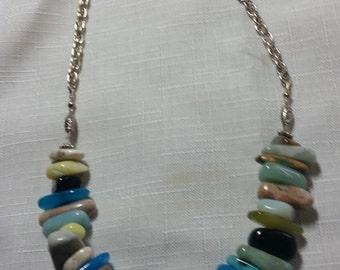 Pointed Multi-Gemstone Necklace