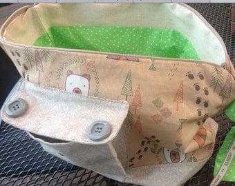 Handmade zipper project bag
