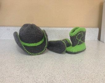 Crochet cowboy/cowgirl set