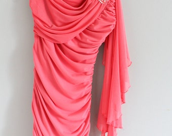 Coral Homecoming Dress