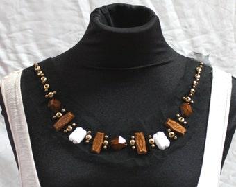 Chunky Beaded Fashion Collar - JR09290