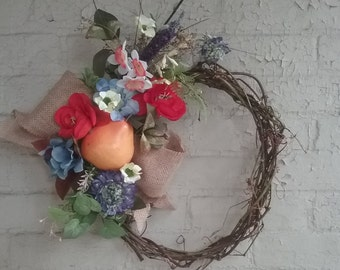 Garden Grapevine Wreath