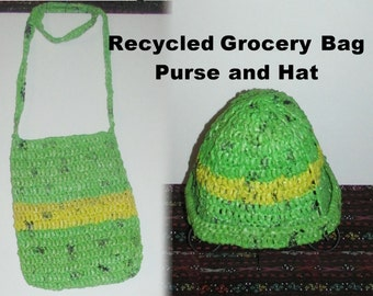 Plarn Purse and Hat