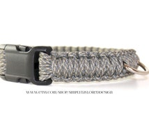 Paracord dog collar / grey dog collars / grey paracord / paracord leash / paracord / rope dog collar / rope dog collar and leash / custom