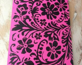 Pink handmade notebook
