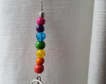 Rainbow Peace Pirate Fairy Earring