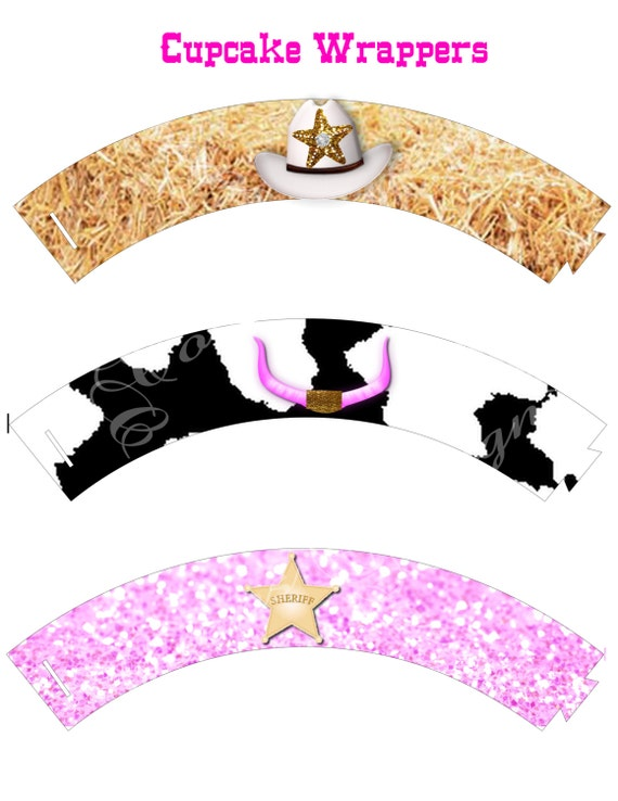cowgirl cupcake wrappers western cowgirl cupcake wrapper