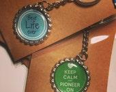 Set of 10 Bottle Cap Key Chain or Magnet, Custom option, Pioneer School Gift, Pioneer Appreciation Gift, Pioneer Gifts, JW Pioneer Gift, JW