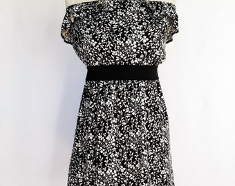 Floral Strapless Dress- M