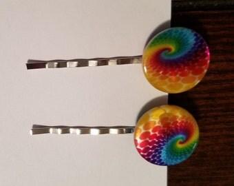 Tye-Dye Bead Bobby Pins