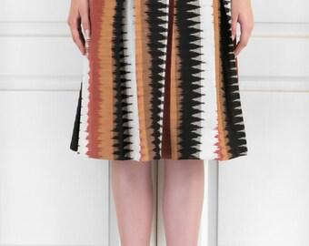 Pleated Ikat Skirt