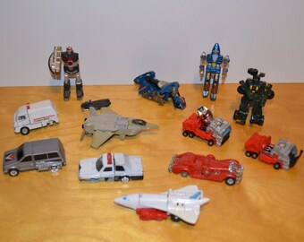 Vintage Transformers Gobots KO Action figure Lot Parts Repair Customize