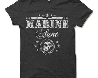 Marine Aunt Shirt.  Cool Gift for Marine Aunt.