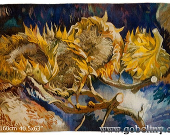 Sunflower Tapestry Etsy