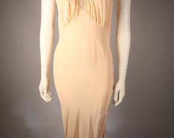 1930s Pale Pink Slip Dress