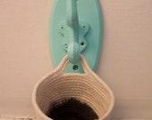Little hook pot (black dip dye)