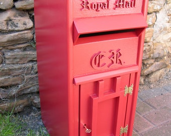 Replica Royal Mail Red Letter / Post Box / Wedding Box with keys - Garden Ornament