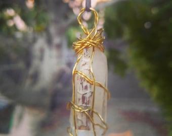 White Sage Lemurian Pendant