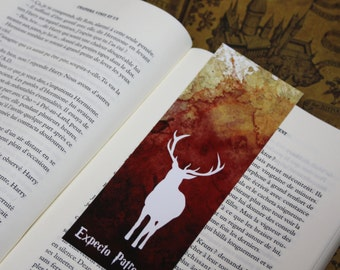 Bookmark Art drawing print, Harry potter, Patronus deer illustration brand page