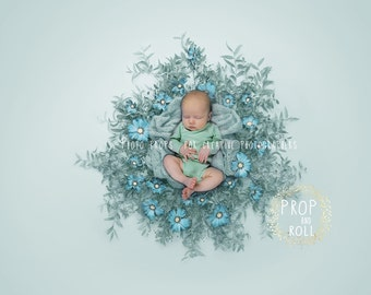 Newborn Digital Backdrop, newborn digital background, prop, wreath, photographie bébé, telón de fondo, Neugeborene, bambino fotografia