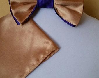 Royal Gold Purple Bowtie set