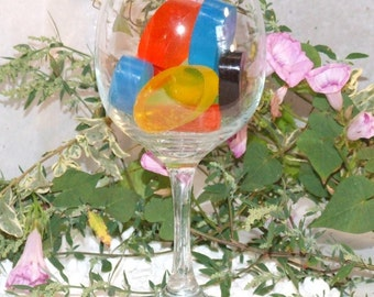 Wine Glass of Scented Soap Samples