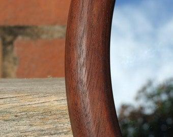 Oval Mirror - Reclaimed Mahogany Wood & Wall Mirror.