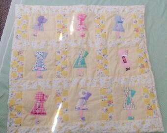 Little girl patchwork cot/pram quilt