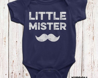 Little Mister Mustache Baby Bodysuit Mustache Romper Matching Father Son Shirt Little Man Tshirt Gift For Baby Matching Family Shirts AR-61