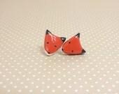 Red Fox Clay Stud Earrings