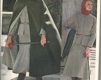 Vogue Americana 1160 Misses Jacket, Cape, Skirt, Pants, Blouse 70s Vintage Sewing Pattern Anne Klein Designer Size 8 Bust 31 1/2 Uncut