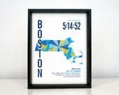Personalized Boston Marathon Print