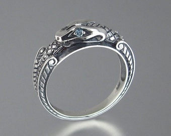 RESERVED for D. OUROBOROS silver mens Snake ring - 2nd payment