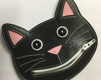 Happy Cat Coin Purse, Cat lover gift