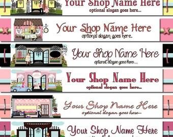 Premade Etsy Shop Banner - Etsy Banner Design - SHOP ICON - Fashion Clothing Boutique Shops Store