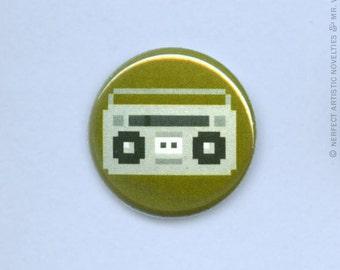 "8-Bit Boombox 1"" Pin-Back Button"